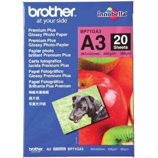 Fotopapier Brother BP-71 A3 260gr Glossy 20vel