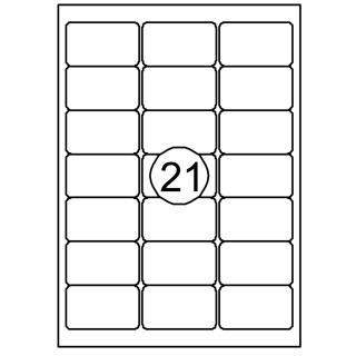 Etiket Quantore 63.5×38.1mm 2100stuks