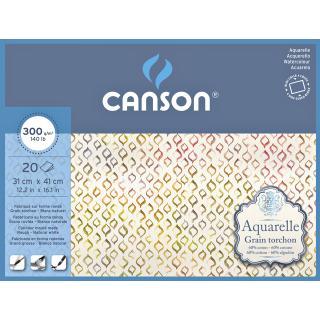 Aquarelblok Canson 31x41cm 20V 300gr Grof Gelijmd