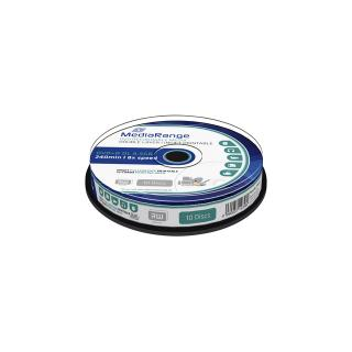 DVD+R MediaRange DL 8.5GB Inkjet Printable, 10 Stuks