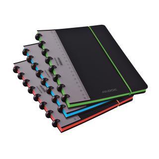 Schrift Adoc Coloredge A5 Lijn 144blz 90gr PP Zwart