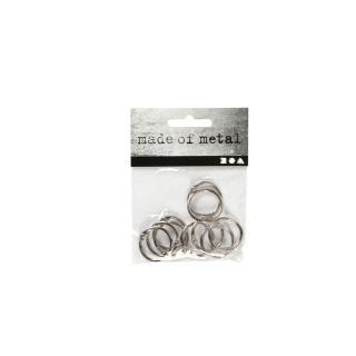 Boekbindersring Creotime 19mm Zilver