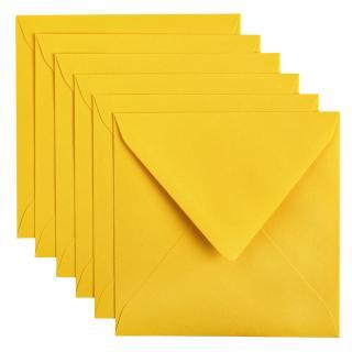 Envelop Papicolor 140x140mm Dottergeel