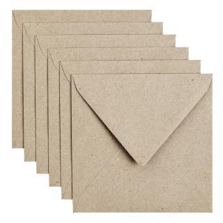 Envelop Papicolor 140x140mm Kraft Grijs