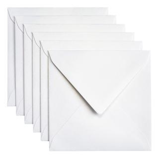 Envelop Papicolor 140x140mm Parelwit