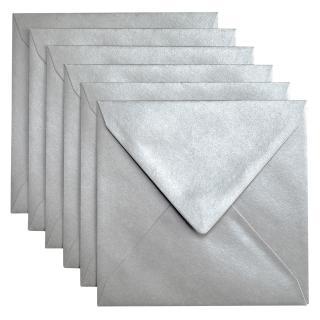 Envelop Papicolor 140x140mm Zilver