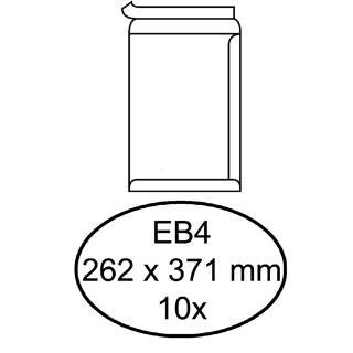 Envelop Hermes Akte EB4 262x371mm Zelfklevend Wit 10stuks