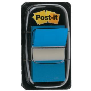 Indextabs 3M Post-it 680 25.4×43.2mm Blauw