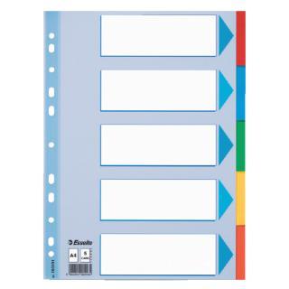 Tabbladen Esselte A4 11R Karton 5-delig Met Voorblad