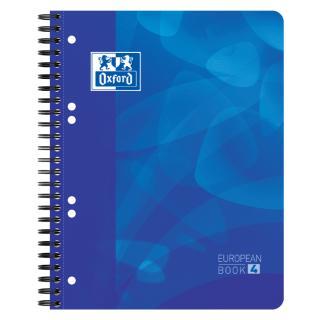 Projectboek Oxford School A5+ 6-gaats Lijn 120vel Blauw