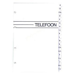 Telefoonalbum KTC Large Navulling A-Z 4-rings