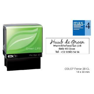 Tekststempel Colop 20 Green Line+bon 4regels 38x14mm
