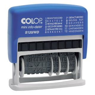 Woord-datumstempel Colop S120 Mini-info Dater 4mm