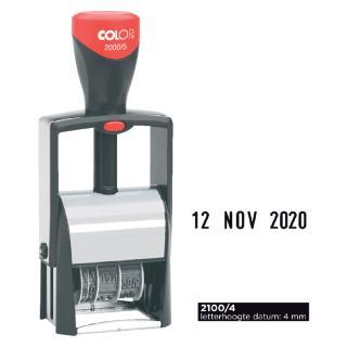 Datumstempel Colop 2100 Classic 4mm Kussen Zwart