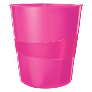 Papierbak Leitz WOW 15liter Roze