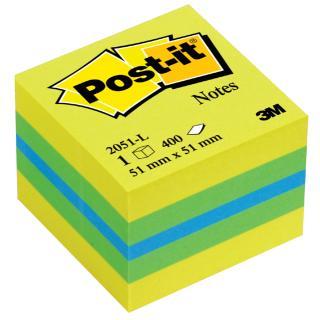 Memoblok 3M Post-it 2051 51x51mm Kubus Lemon