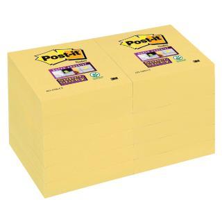 Memoblok 3M Post-it 622 Super Sticky 47.6×47.6mm Geel