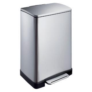Afvalbak Pedaalemmer E-Cube RVS Mat Rechthoekig 40liter