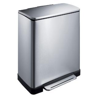 Afvalbak Pedaalemmer E-Cube RVS Mat Rechthoekig 50liter