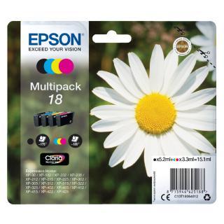 Inktcartridge Epson 18 T1806 Zwart + 3 Kleuren