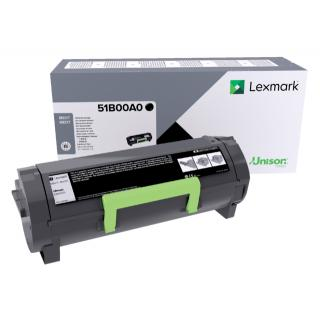 Tonercartridge Lexmark 51B00A0 Zwart