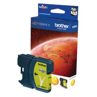 Inktcartridge Brother LC-1100HYY Geel HC
