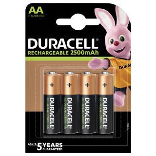 Batterij Oplaadbaar Duracell 4xAA 2500mAh Ultra