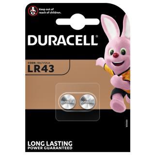 Batterij Duracell Knoopcel 2xLR43 Alkaline Ø11,6mm 2 Stuks