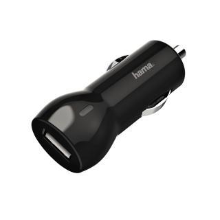 Autolader Hama USB-A 1X 2.4A Zwart