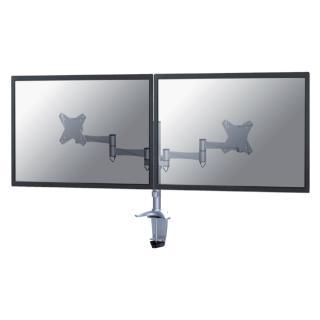 Monitorarm Newstar D1330D 2×10-27″ Zilvergrijs