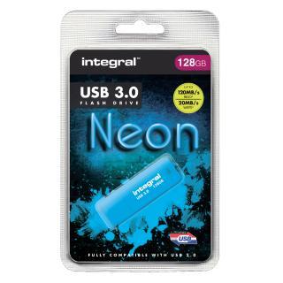 USB-stick 3.0 Integral 128GB Neon Blauw