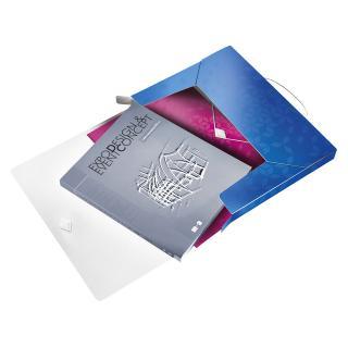 Documentenbox Leitz WOW 30mm A4 PP Blauw