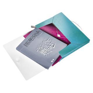 Documentenbox Leitz WOW 30mm A4 PP Ijsblauw