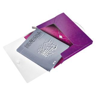 Documentenbox Leitz WOW 30mm A4 PP Paars