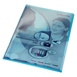 Insteekmap L-map Leitz Premium A4 PVC Blauw