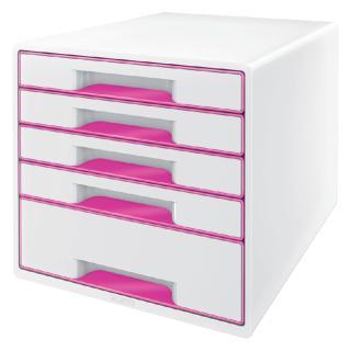 Ladenblok Leitz WOW 5 Laden Wit/roze