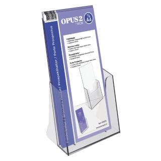 Folderhouder OPUS 2 1/3 A4 Transparant