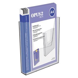 Folderhouder OPUS 2 Wand A4 Transparant