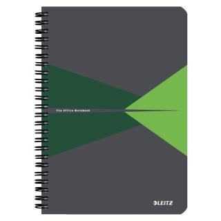 Notitieboek Leitz Office A5 Lijn Karton Groen
