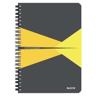 Notitieboek Leitz Office A5 Lijn PP Geel