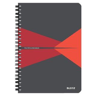 Notitieboek Leitz Office A5 Lijn PP Rood