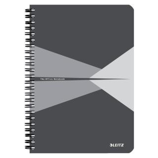 Notitieboek Leitz Office A5 Lijn PP Grijs