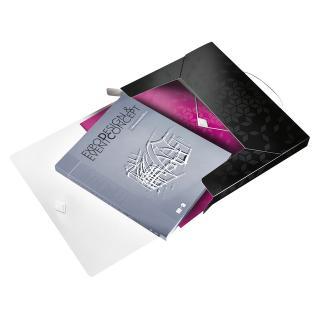 Documentenbox Leitz WOW 30mm PP Zwart