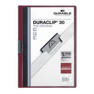 Klemmap Durable 2200 A4 3mm Aubergine