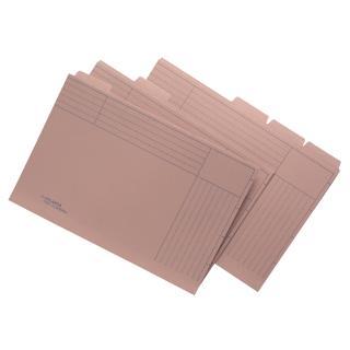 Binnenmap Jalema Folio Met 5 Tabs 300gr Chamois