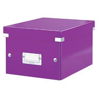 Opbergbox Leitz WOW Click & Store 200x148x250mm Paars