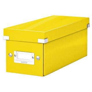 CD-box Leitz WOW Click&Store 143 X 136 X 352 Mm Geel
