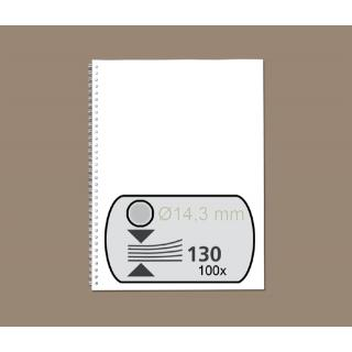 Draadrug GBC 14.3mm 34-rings A4 Zilver 100stuks