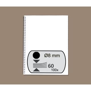 Draadrug Fellowes 8mm 34-rings A4 Zwart 100stuks