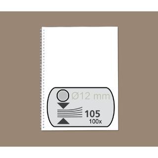 Draadrug Fellowes 12mm 34-rings A4 Zilver 100stuks